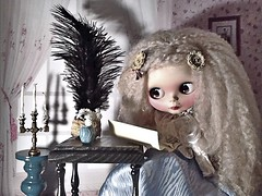 "Blythe-a-Day#7. Pen Pals#18. Inspired: Young Miss Havisham • <a style=""font-size:0.8em;"" href=""http://www.flickr.com/photos/154461393@N05/44786645202/"" target=""_blank"">View on Flickr</a>"