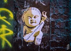 Peace Comes From Within (Corbicus Maximus) Tags: nikon d7200 18140mm southsea porstmouth streetart street art graffiti southseaghetto ripartist stencil stencilism peace buddha wall brick lightroom