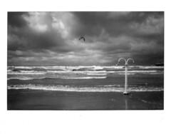 . (giampaolomajonchi.it) Tags: fuji wide300 monochrome stormy sea beach instant instax