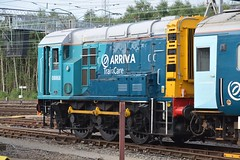 """Arriva Train Care Class 08, 08868 (37190 """"Dalzell"""") Tags: atw arrivatrains arrivatrainswales turquoisegreen shunter rods gronk ee englishelectric class08 08868 d4036 carriagesidings lnwr londonnorthwesternrailwaycompany arrivatraincare depot crewe"""
