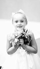 Flower girl👰💕 (ZanetaMaria) Tags: flowergirl flower wedding bookek bookeh flowers beautiful sigmaart sigma85art bw dreamy childernphotography child childphotography kids weddingphotography