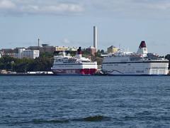 Stockholm waterfront (davidmcnuh) Tags: sweden ferry cruise ship boat harbour waterfront sea water coast vikingline cinderella gabriella cruiseferry