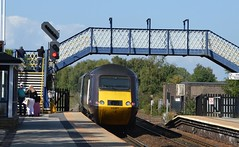 43321 on the rear of 43207 passes through Mexborough with the 1V54 Newcastle to Plymouth, 31st Aug 2018. (Dave Wragg) Tags: 43321 class43 hst 1v54 xc crosscountry mexborough railway