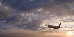 New Start (Blueocean64) Tags: belgium belgique wallonie hainaut charleroi airplane sun sunset coucherdesoleil ciel sky clouds nuages extérieur light outdoor orange summer panasonic g5 美丽 艺术 摄影 日落 欧洲 旅游 景观 天空