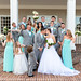 Fun picture with the bridal party behind the clubhouse on the steps - Pawleys Plantation