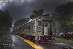 Storm Front on NJT #1079 @ Mountain Lakes. (bozartproductions) Tags: rain storm new jersey mountain lakes morris county transit njt boonton line montclair cab car locomotive passenger comet deluge weather