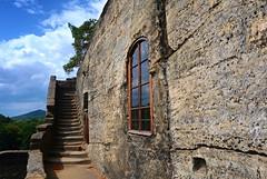 Rock Castle Sloup v Čechách (ZdenHer) Tags: rock castle window czechrepublic architecture canonpowershotg7xmarkii