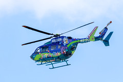 N919CM - Children's Mercy Life Flight Eagle - Kawasaki EC-145 (Explored 09/12/2018) (Lynn Tweedie) Tags: childrensmercy blue colorful 7dmarkii kansascity helicopter sky eos canon clouds