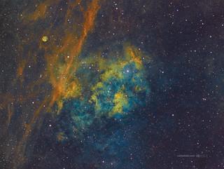 Sh2-115 & Sh2-116 in Cygnus (wide field in HSTrgb)