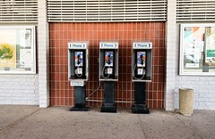 Not one, not two, but three!... 20180508_9988 (listorama) Tags: appliance telephone usa california westleyrestarea i5