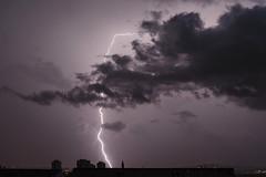 13th (Lolo_) Tags: marseille city ville lightning storm thunderstorm orage éclair foudre nuit roofs toits nuage cloud church église buildings immeubles towers tours