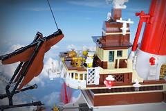 """Skytanic"" – Detail (Markus ""madstopper78"" Ronge) Tags: moc legosteampunk steampunklego steampunk airship fullsteamlego netbrix toyphotography legopotsdam legophotography legofan afol"
