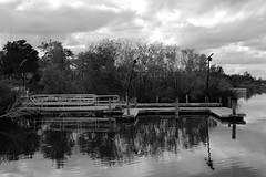 BOAT RAMP IN BLACK AND WHITE (R. D. SMITH) Tags: ramp water clouds blackandwhite outside bw canoneos7d