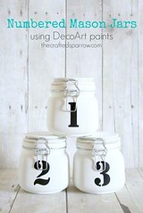 Numbered Mason Jars (DIY and HandMade) Tags: handmade diy