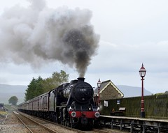 48151: Here Comes The Rain (Gerald Nicholl) Tags: lms 8f 280 stanier 48151 ribblehead settle carlisle penninedalesman steam engine loco locomotive train express penyghent yorkshire station wcrc