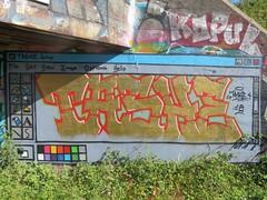 Tashe (emilyD98) Tags: street art saint nazaire insolite mur wall graff graffiti tag urban exploration explore rue tashe windows paint fenêtre blockhaus bunker