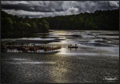 P5272232a-EditLOGO (john.cote58) Tags: fishing sport boat pier dock lake outdoors outside early morning sunrise cloudy overcast water boats reflections trees nature ripples tennessee sharpschapel watersidecove cove professional photography josephyvoncote