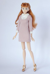 Sweet and gentle (*SquishTish*) Tags: doll clothes fashion style outfit miniature momoko dollydot dress pearly shiftdress pink