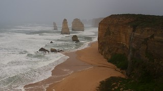 Tempest on the twelwe Apostles, morning time, Great Ocean Road, Australia