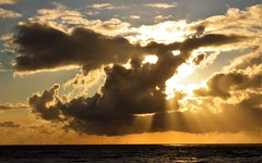 on a stormy evening (j.verduin) Tags: clouds northsea windmills sunbeams stormy
