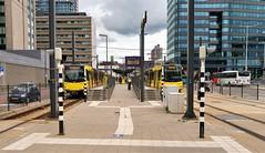 Uurtje Utrecht 2 (Peter ( phonepics only) Eijkman) Tags: utrecht tram transport trams tramtracks trolley rail rails streetcars strassenbahn nederland netherlands nederlandse holland uov