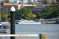 800_5479 (Lox Pix) Tags: queensland qld australia architecture crane catamaran river rivercat boat brisbane bird bridge building brisbaneriver boats ship yacht loxpix landscape rivertraffic