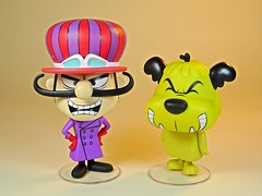 Funko – Vynl. – Hanna Barbera – Wacky Races – Dick Dastardly & Muttley Vinyl Figures Set – 2018 Summer Convention Exclusive – Front (My Toy Museum) Tags: funko vinyl pop vynl hanna barbera wacky races figure dick dastardly muttley terry thomas dog laughing