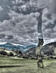 crack in reality (kurtwolf303) Tags: installation kunst art schrattenbach austria landscape landschaft hdr skulptur österreich sky himmel clouds wolken crack riss