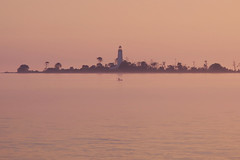 IMG_9389 (giltay) Tags: lakehuron sunset tamron135mmf28 chantryisland kayak lighthouse lake mist