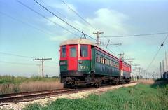 North Shore 714 at IRM 7-4-88 (jsmatlak) Tags: chicago north shore line cnsm electric interurban railroad train tram trolley irm illinois railway museum