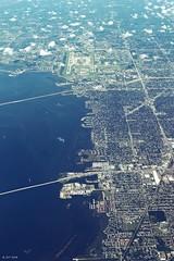 Tampa Airport and Tampa Bay (zeesstof) Tags: zeesstof vacation photoassignment flight commercialflight houstontoorlando florida unitedairlines tampa airport tampainternationalairport
