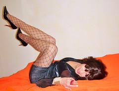 old stuff - high heels - feeeeling good (Katvarina) Tags: crossdresser crossdress crossdressing kat highheels fishnet fencenet transgender tgirl tgurl