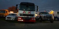 ASK Recovery At Truckfest Southwest (Night) (JAMES2039) Tags: tow towtruck truck lorry heavy underlift 4wheeler daf lf 45 flatbed mediumunderlift au58acj ford f450 cardiff rescue breakdown night ask askrecovery recovery fiesta van cn65wcc servicevan service truckfest 2018 shepton mallet southwest