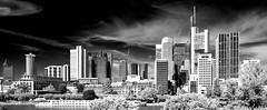 Skyline Frankfurt am Main (M. Schirmer Berlin) Tags: deutschland germany frankfurt frankfurtammain ffm mainhattan skyline hochhäuser main schwarzweis monochrom infrarot infrared pentax k1