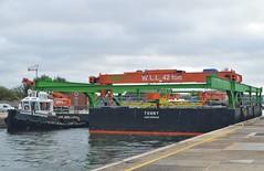 Devout + Tunny (14) @ KGV 18-09-18 (AJBC_1) Tags: riverthames london thamescraftdrydockingservicesltd boat vessel dlrblog england unitedkingdom uk ©ajc northwoolwich eastlondon newham londonboroughofnewham nikond3200 devout damen tug tugboat ajbc1 damenstantug1405 greatbritain gb ship londonsroyaldocks docklands londoncityairportdevelopmentproject cadp pontoon marineengineering royaldocks kgvlock kinggeorgevlock havensupporter collinswateragelighterage stantug1205 damenshipyardsgroup bamnuttall gantrycrane crane tunny gallionspoint