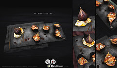 8f8 - Foodlicious - FIG with Bacon (iBi 8f8) Tags: sl secondlife virtuallife 8f8 ibi foodlicious fig bacon ricotta august 2018 food serving baked