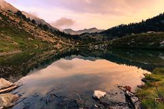 New day (Tekila63) Tags: pyrenees france neouvielle lac laquettes aumar aubert sunrise reflection