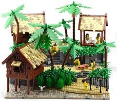 Native Pearling Village - Main (Ayrlego) Tags: lego islander brethrenofthebrickseas bobs corrington îledor oleon