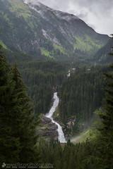 Krimml Falls (Christian Birzer) Tags: fluss nebel landschaft europa wasser berg wald natur grün österreich krimmlerwasserfälle baum gras draussen urlaub wasserfall idylle grau reise weis braun wolken himmel