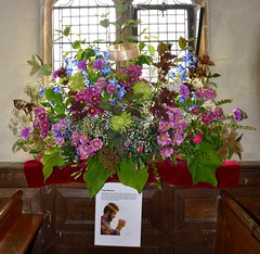 King Solomon 0938 (blackthorne57) Tags: bovinger bobbingworth essex stgermainschurch church athome churchfete floraldisplay bankholidaymonday kingsolomon flowers flowerarrangement