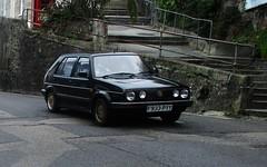 1989 VW Golf 1.6 CL (occama) Tags: f933pyy vw volkswagen golf 16 cl black oldcar cornwall uk german