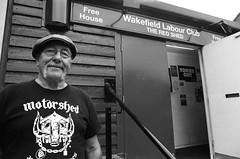 28 Joe, retired miner, Red Shed Wakefield Labour Club (I ♥ Minox) Tags: film 2018 tmax tmax400 kodaktmax400 kodak olympus olympusom2n olympusom2 om2 om2n om2582 mining miner retiredminer westyorkshire pit colliery kellingley