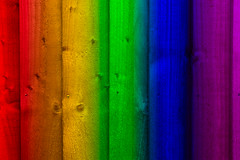 Fancy Fencing (Julian Chilvers) Tags: colour rainbow fence