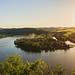Panorama of lake Slapy near Prague on river Vltava