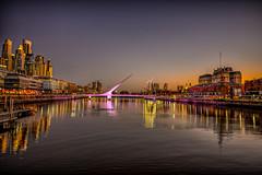 """Puente de la Mujer ( """"Woman's Bridge"""") (dgoldenberg52) Tags: bridge buenos aires argentina womens puente de la mujer hdr high dynamic range harbor nikonflickraward"""