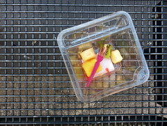 Lost property. Fundsache. (remember moments) Tags: dietmarvollmer food fruit obst lostproperty fundsache meal bench square rectangle