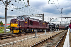 37706 + 44781 + 45690 - Crewe - 21/07/18. (TRphotography04) Tags: west coast railways wcrc drags black 5s 44871 45690 leander crewe working 5z50 1111 carnforth steamtown st philips mrsh h s t d 37706
