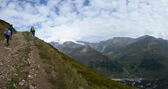 Chegat Panorama2 (nic0704) Tags: elbrus mountain mt russia caucasus range europe 7 summits summit seven highest point high volcano glacier climbing mountaineering hiking ice snow crampon axe altitude baksan valley georgia elborz chegat