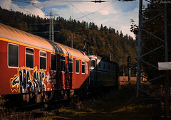 Mountain sunset (WT_fan06) Tags: trainspotting transportation trains romania cfr photography