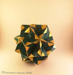 Blades 30 (mancinerie) Tags: origami modularorigami paperfolding papiroflexia papierfalten icosahedron francescomancini mancinerie
